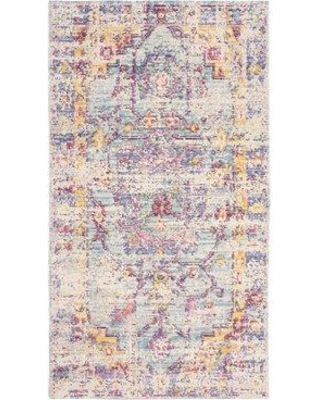 "French Connection Zenaide Colorwashed Ivory Area Rug W000551455 Rug Size: Rectangle 2'3"" x 3'10"""