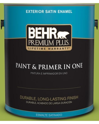 BEHR Premium Plus 1 gal. #PPU10-05 Intoxication Satin Enamel Exterior Paint and Primer in One