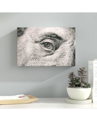 "Ebern Designs 'Money Abstract' Graphic Art Print on Wrapped Canvas BI040035 Size: 16"" H x 32"" W x 2"" D"