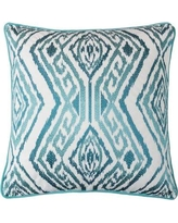 Wrought Studio Gagliano Embroidery Velvet Throw Pillow BF034897 Color: Turquoise