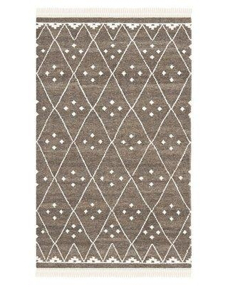 Union Rustic Mill Geometric Handmade Flatweave Wool Brown/Ivory Area Rug NKM316A Rug Size: Rectangle 6' x 9'