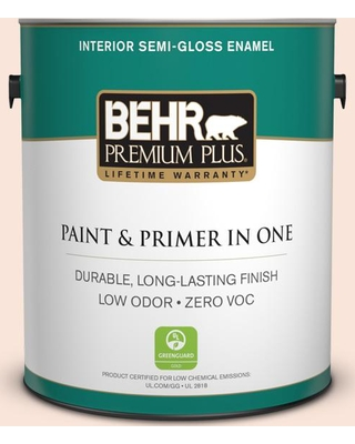 BEHR Premium Plus 1 gal. #RD-W4 Illuminated Semi-Gloss Enamel Low Odor Interior Paint and Primer in One