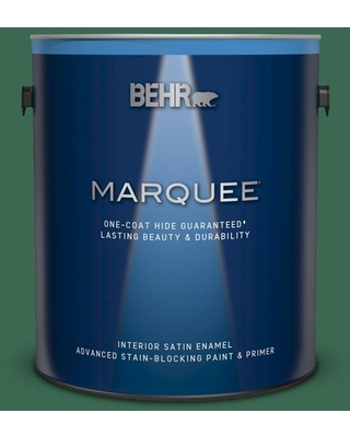 BEHR MARQUEE 1 gal. #M410-7 Perennial Green Satin Enamel Interior Paint and Primer in One