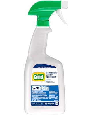 Comet Disinfecting Cleaner with Bleach (3-40), 32 oz, 8/Carton (30314) | Quill