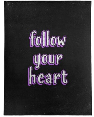 Follow Your Heart Quote Chalkboard Style Poly Chenille Rug East Urban Home Rug Size: Rectangle 9' x 12'