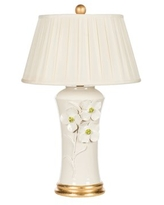 "Dogwood Couture 26"" Table Lamp Bradburn Home Base Color: Pink"