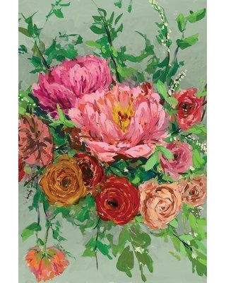 """East Urban Home 'Vintage Bouquet I' Watercolor Painting Print on Canvas ETUB7750 Size: 40"""" H x 26"""" W x 0.75"""" D"""
