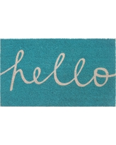 "Blue Hello Cursive Doormat 1'6""x2'6"" - Room Essentials"