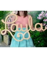 """Custom Personalized Wooden Name Sign 12-55"""" WIDE- LAYLA Font Letters Baby Name Plaque PAINTED nursery name nursery decor wooden wall art, above a crib"""