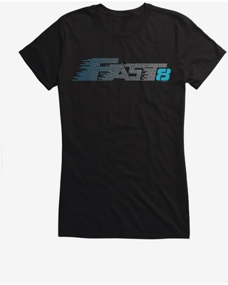 The Fate Of The Furious Fast 8 Blue Speed Logo Girls T-Shirt