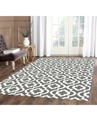 House of Hampton Weeden Rehash Hand-Tufted Gray/White Area Rug BF207953 Rug Size: Rectangle 4' x 5'