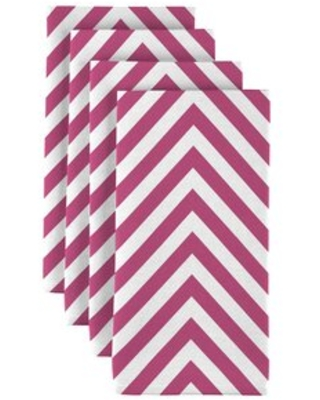 "Chevron 18"" Napkins Fabric Textile Products, Inc. Color: Pink"