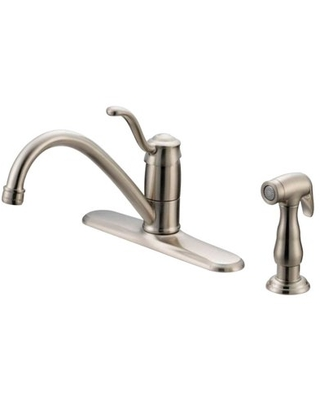 OakBrook Tucana One Handle Kitchen Faucet with Deck Mount Side Sprayer