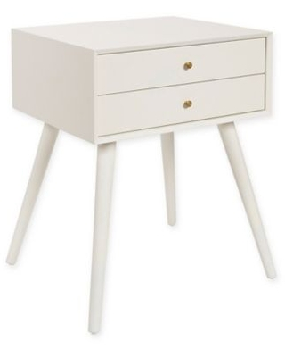 Kate And Laurel Finco 2-Drawer Nightstand In White