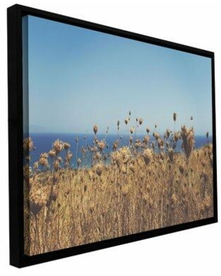 ArtWall Close up Field by Revolver Ocelot Framed Photographic Print on Wrapped Canvas, Canvas & Fabric in Brown/Blue | Wayfair 0oce032a