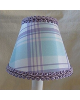 "Silly Bear Taffy 11"" Fabric Empire Lamp Shade LS-465 Color: Blue/Lavender"