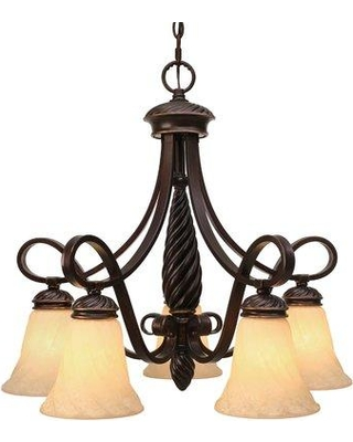 Amazing Savings On Darby Home Co Hoopeston 5 Light Shaded Classic Traditional Chandelier Metal In Bronze Antique Bronze Size 23 H X 24 W X 24 D Wayfair