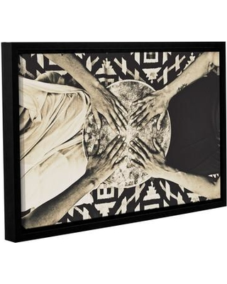 """ArtWall 'Mystic Woman Drummers' by Elena Ray Framed Photographic Print on Wrapped Canvas JJM19715 Size: 12"""" H x 18"""" W"""