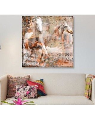 """East Urban Home 'Horse' Graphic Art Print on Canvas ERBR0756 Size: 26"""" H x 26"""" W x 0.75"""" D"""