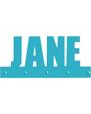 Personalized Name with Pegs, Aqua