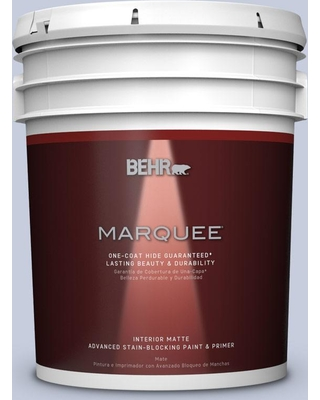 BEHR MARQUEE 5 gal. #PPU15-17 Monet One-Coat Hide Matte Interior Paint and Primer in One