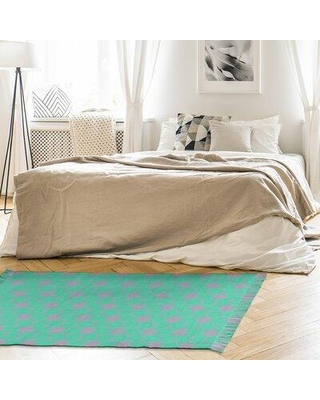 East Urban Home Mcguigan Ornate Circles Green Area Rug W001730535 Non-Skid Pad Included: Yes
