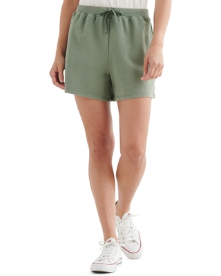 Women's Lucky Brand The Summer Drawstring Shorts, Size Large - Green