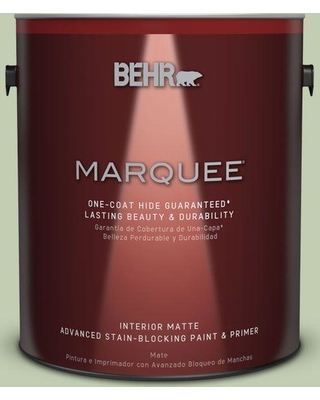 BEHR MARQUEE 1 gal. #M380-3 Growing Season One-Coat Hide Matte Interior Paint and Primer in One