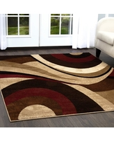 """Home Dynamix Tribeca Slade Area Rug, Brown/Red, 7'10"""" x 10'6"""" Rectangle"""