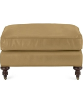Bedford Ottoman, Faux Suede, Solid, Camel