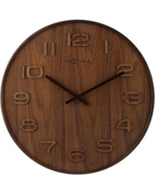 """17 Stories Wood Big 20.87"""" Wall Clock STSS5020 Size: 20.87"""" H x 20.87"""" W x 1.18"""" D Color: Brown"""