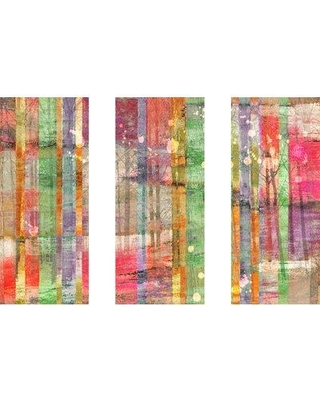 """Marmont Hill 'Multi-Season Trees Triptych' Painting Print on Wrapped Canvas MHTRY-57-C Size: 24"""" H x 36"""" W"""