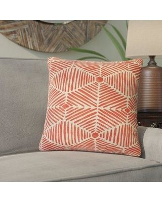 Bloomsbury Market Tricia Geometric Cotton Throw Pillow BLMK4921 Color: Pink
