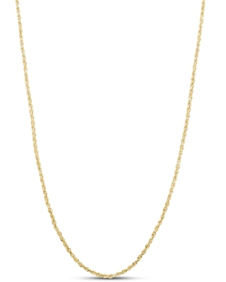 """Jared The Galleria Of Jewelry Glitter Rope Necklace 14K Yellow Gold 20"""""""