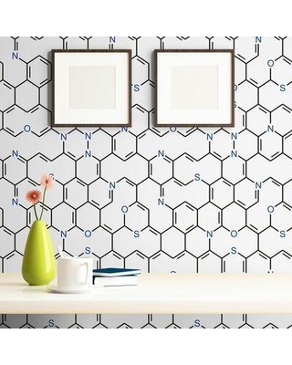 Great Sales On Latitude Run Shivangi Chemistry Themed Removable Peel And Stick Wallpaper Panel X112948101 Size 24 W X 102 L