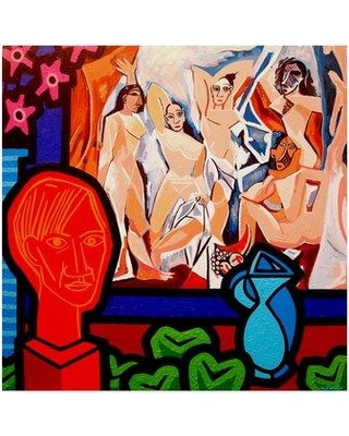 """Trademark Fine Art 'Homage to Picasso 1' Graphic Art Print on Wrapped Canvas ALI37030-CGG Size: 35"""" H x 35"""" W x 2"""" D"""
