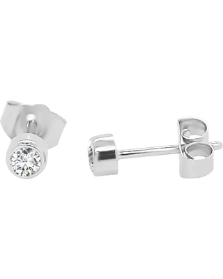 Noray Designs 14K Gold Diamond (0.20 Ct, G-H Color, SI2-I1 Clarity) Bezel Set Stud Earrings