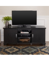 """Walker Edison Transitional TV Stand for TVs up to 66"""" - Black"""