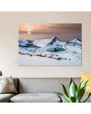 """East Urban Home 'Frozen Lake' Photographic Print on Canvas ESUI1577 Size: 26"""" H x 40"""" W x 0.75"""" D"""