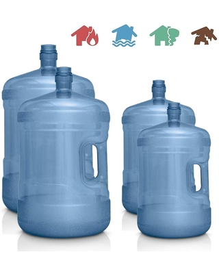Emergency Supplies Water Storage Containers - 5 Gallon and 3 Gallon BPA Free Food Grade Water Jugs