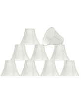 3 x 6 x 5 Aspen Creative 30065-2 Small Bell Shape Chandelier Clip-On Lamp Shade Set Transitional Design in Camel 2 Pack 6 Bottom Width