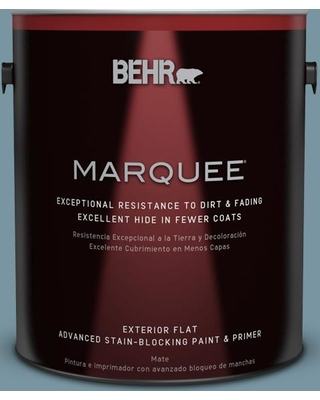 BEHR MARQUEE 1 gal. #530F-5 Waterscape Flat Exterior Paint and Primer in One