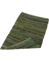 "DII Home Essentials Rag Rug for Kitchen, Bathroom, Entry Way, Laundry Room and Bedroom, 20 x 31.5"" Olive Green"