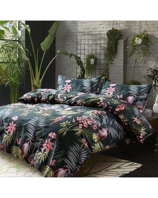 Don T Miss Sales On Bay Isle Home Simone Palm Leaves Exotic Tropical Flowers And Birds Duvet Cover Set X112311769 Size Oversized King Color Pine Green See more ideas about tropical quilts, quilts, quilt patterns. mywedding