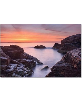 "Trademark Art 'Between Rocks' Photographic Print on Wrapped Canvas ALI3863-C Size: 16"" H x 24"" W x 2"" D"