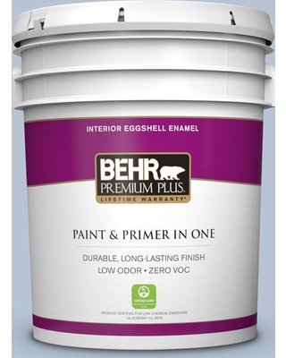 BEHR Premium Plus 5 gal. #590E-3 Hyacinth Tint Eggshell Enamel Low Odor Interior Paint and Primer in One