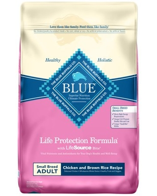 Blue Buffalo Life Protection Formula Natural Adult Small Breed Dry Dog Food, Chicken and Brown Rice, 15-lb
