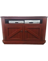 Longshore Tides Benji Solid Wood Corner TV Stand for TVs up to 65 inches W001694318 Color: Rustic Red