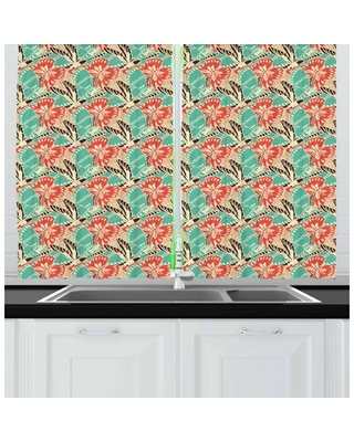 """Spring 55"""" Kitchen Curtain East Urban Home"""