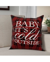 """The Holiday Aisle Baby It's Cold Outside Throw Pillow THDA8132 Size: 18"""" x 18"""", Type: Throw Pillow"""